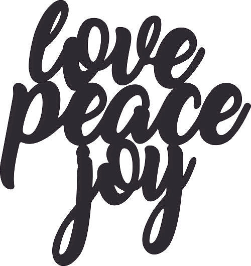 LOVE PEACE JOY DXF of PLASMA ROUTER LASER  Cut -CNC Vector DXF-CDR-AI-JPEG