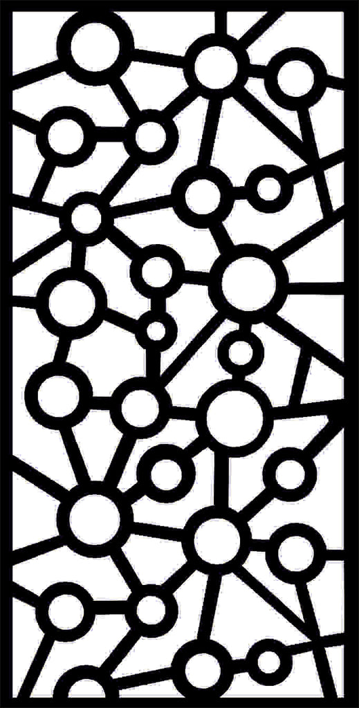 DXF design  plasma Laser router Cut -CNC Vector DXF-CDR AI JPEG  PANEL N221