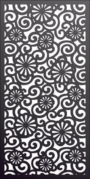 PANEL design cnc plasma Laser router Cut -CNC Vector DXF-CDR AI JPEG  PANEL N336