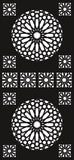 SCREEN design  plasma Laser router Cut -CNC Vector DXF-CDR AI JPEG  PANEL N370