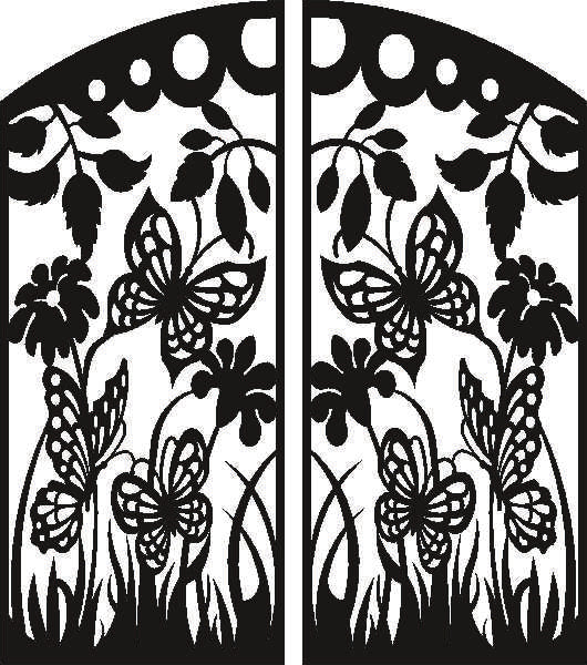 PANEL GATE   design cnc plasma Laser router Cut -CNC Vector DXF-CDR AI JPEG   N425