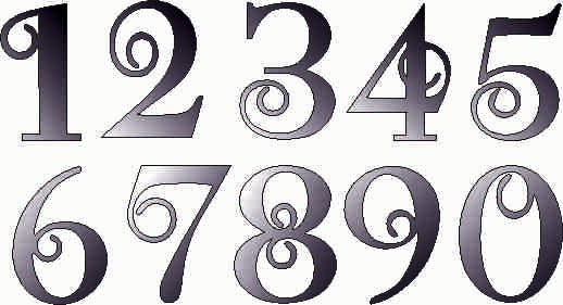 NUMBERS DXF of PLASMA ROUTER LASER  Cut -CNC Vector DXF-CDR-AI-JPEG