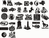 PACK OF 30 DESIGN DXF FOR PLASMA ROUTER LASER  Cut -CNC Vector DXF-CDR-AI-JPEG