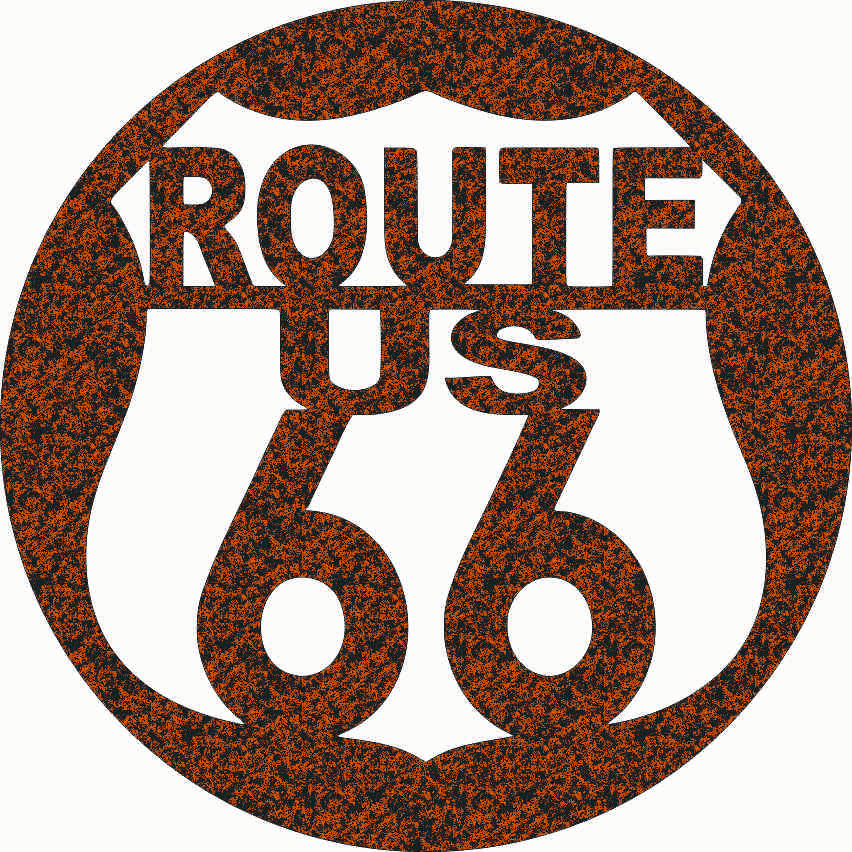 ROUTE US 66 SIGN DXF of PLASMA ROUTER LASER  Cut -CNC Vector DXF-CDR-AI-JPEG