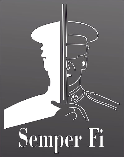 SEMPER FI DXF of PLASMA ROUTER LASER  Cut -CNC Vector DXF-CDR-AI-JPEG