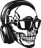 SKULL MUSIC DXF of PLASMA ROUTER LASER  Cut -CNC Vector DXF-CDR-AI-JPEG