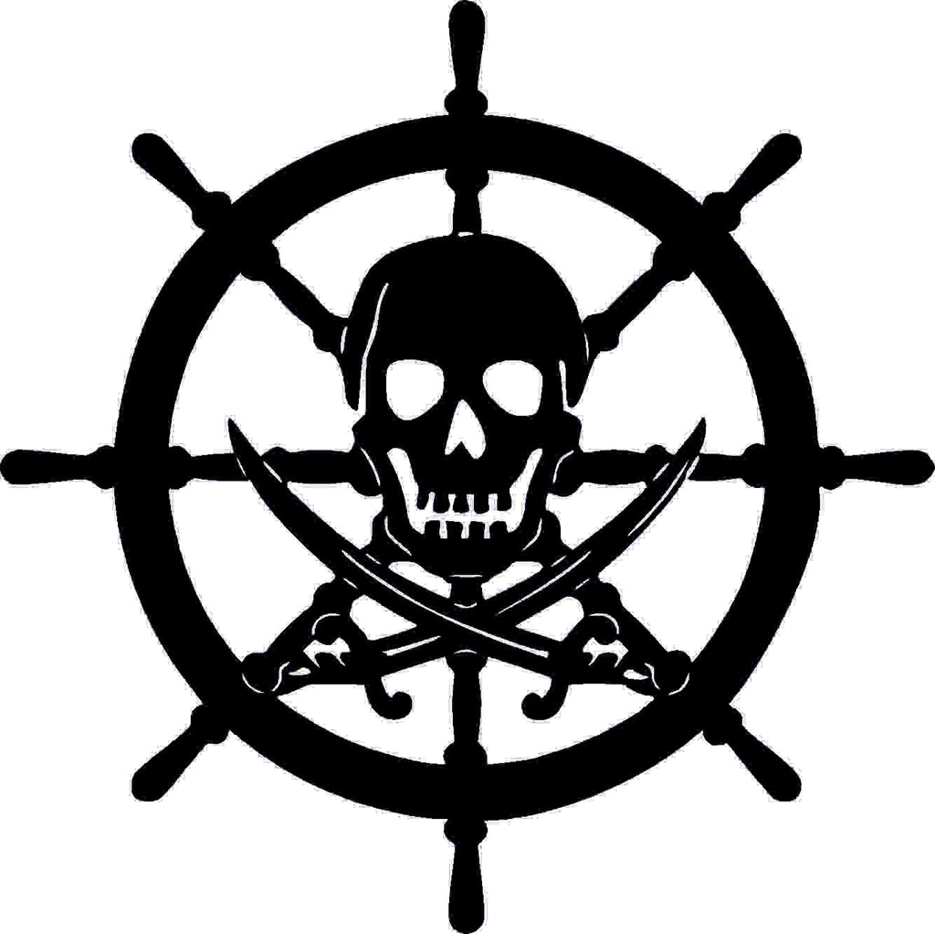SKULL PIRATE DXF of PLASMA ROUTER LASER  Cut -CNC Vector DXF-CDR-AI-JPEG
