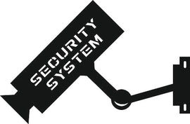 SIGN SECURITY SYSTEM SVG-DXF of PLASMA ROUTER LASER  Cut -CNC Vector DXF-CDR-AI-JPEG