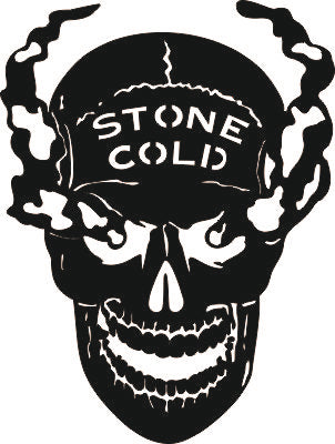 STONE COLD SKULL SVG-DXF of PLASMA ROUTER LASER  Cut -CNC Vector DXF-CDR-AI-JPEG