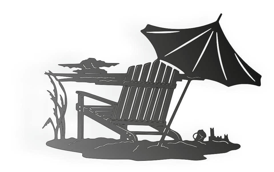 SUMMER BEACH DXF of PLASMA ROUTER LASER  Cut -CNC Vector DXF-CDR-AI-JPEG