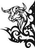 THE BULL DXF of PLASMA ROUTER LASER  Cut -CNC Vector SVG-DXF-CDR-AI-JPEG