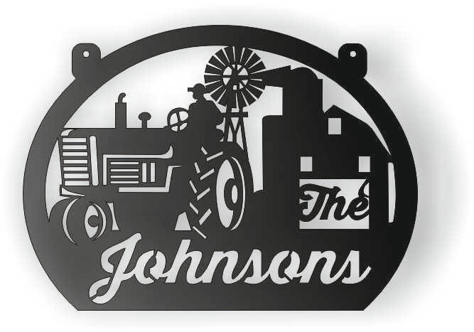 THE JOHNSON FARM DXF of PLASMA ROUTER LASER  Cut -CNC Vector DXF-CDR-AI-JPEG