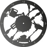 GARDEN TOOLS CLOCK CNC ART AI CDR PLASMA ROUTER LASER CUTTING