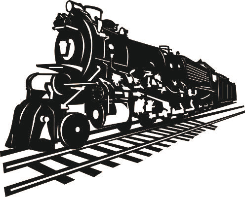 TRAIN SVG-DXF of PLASMA ROUTER LASER  Cut -CNC Vector DXF-CDR-AI-JPEG
