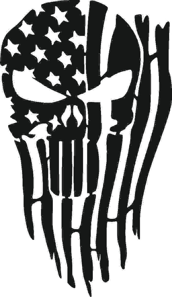 USA SKULL DXF of PLASMA ROUTER LASER  Cut -CNC Vector DXF-CDR-AI-JPEG