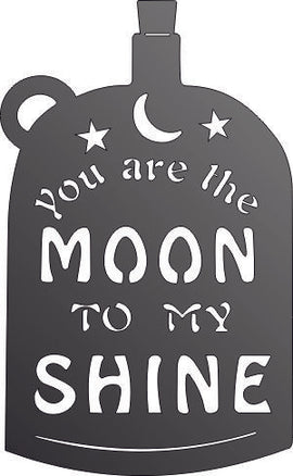 YOU ARE THE MOON TO MY SHINE DXF of PLASMA ROUTER LASER  Cut -CNC Vector DXF-CDR-AI-JPEG