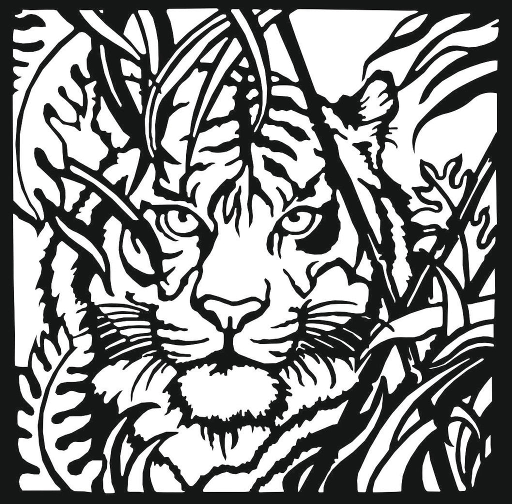 TIGER DXF of PLASMA ROUTER LASER  Cut -CNC Vector DXF-CDR-AI-JPEG V14