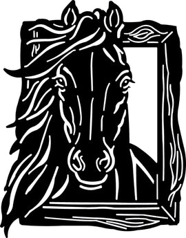 HORSE DXF PLASMA ROUTER LASER  Cut -CNC Vector DXF-CDR-AI-JPEG  V26