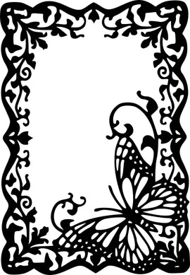 BUTTERFLY MIRROR DXF PLASMA ROUTER LASER  Cut -CNC Vector DXF-CDR-AI-JPEG V35