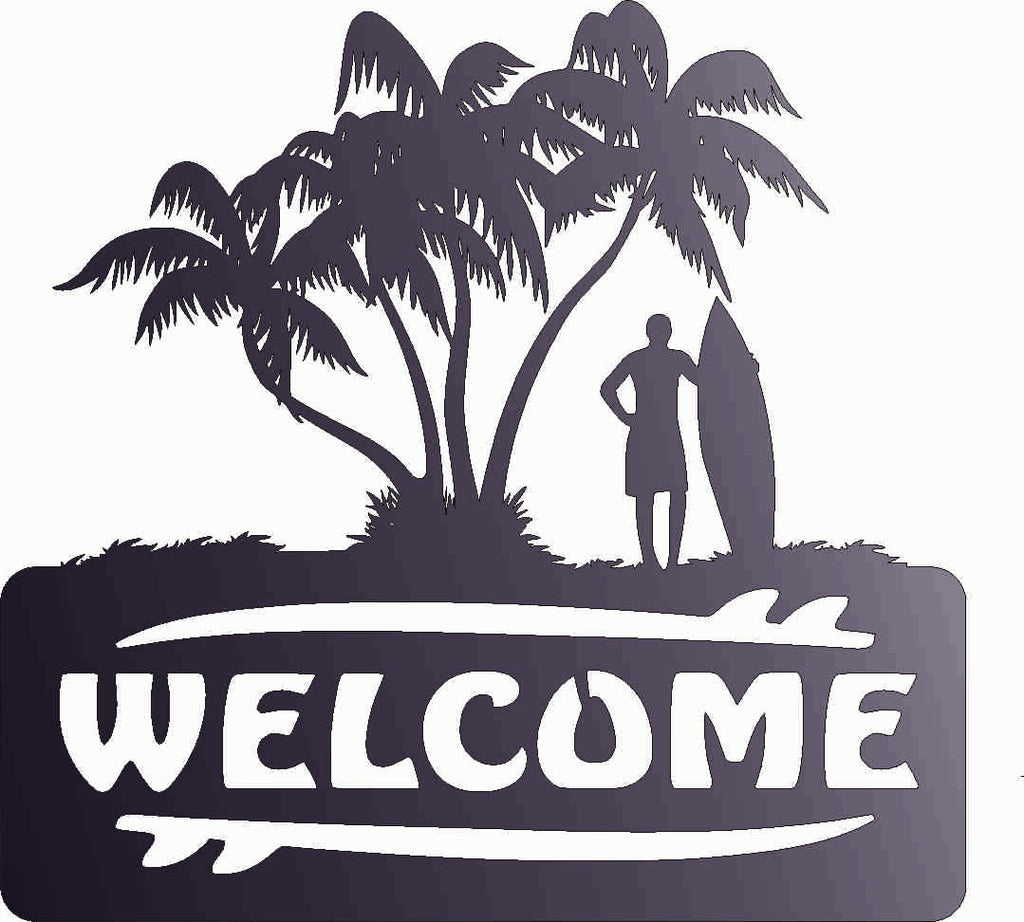 WELCOME BEACH DXF of PLASMA ROUTER LASER  Cut -CNC Vector DXF-CDR-AI-JPEG