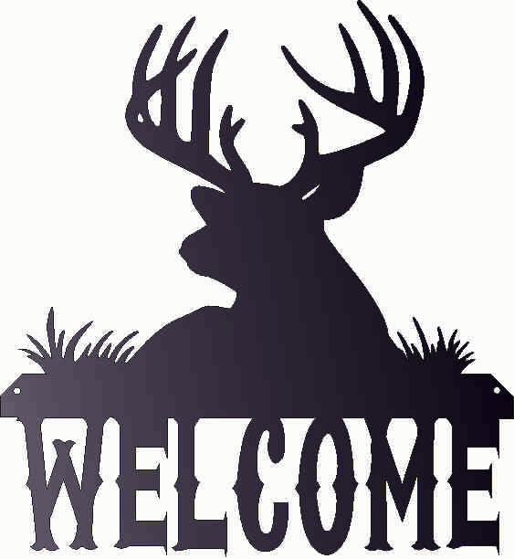 WELCOME SIGN DXF of PLASMA ROUTER LASER  Cut -CNC Vector DXF-CDR-AI-JPEG