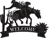 WELCOME WESTERN HORSE SVG-DXF of PLASMA ROUTER LASER  Cut -CNC Vector DXF-CDR-AI-JPEG