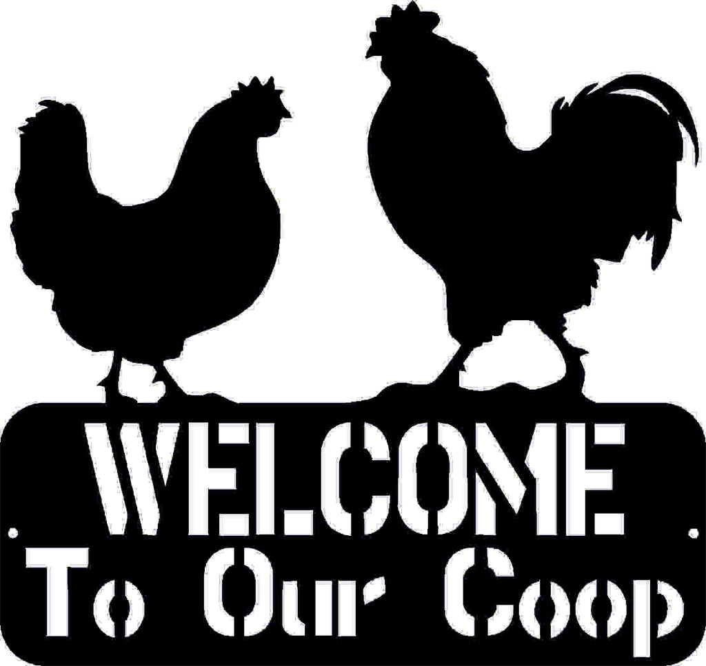 WELCOME TO OUR COOP SIGN DXF of PLASMA ROUTER LASER  Cut -CNC Vector DXF-CDR-AI-JPEG