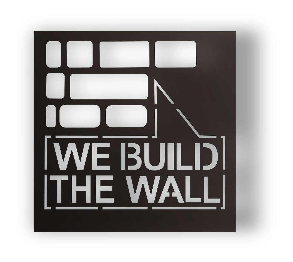 WE BUILD THE WALL DXF of PLASMA ROUTER LASER  Cut -CNC Vector DXF-CDR-AI-JPEG