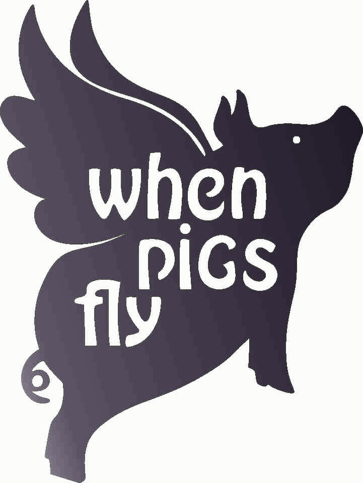 PIGS FLY  DXF of PLASMA ROUTER LASER  Cut -CNC Vector DXF-CDR-AI-JPEG