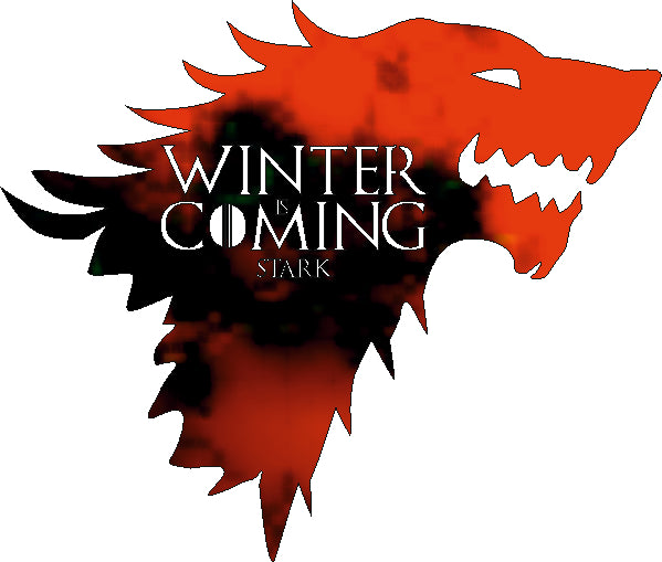 WINTER IS COMING DXF of PLASMA ROUTER LASER  Cut -CNC Vector DXF-CDR-AI-JPEG