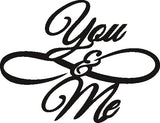 YOU AND ME SVG-DXF of PLASMA ROUTER LASER  Cut -CNC Vector DXF-CDR-AI-JPEG