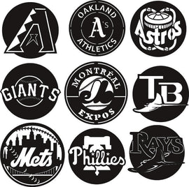 LOGO BASEBALL TEAMS DXF of PLASMA ROUTER LASER  Cut -CNC Vector DXF-CDR-AI-JPEG