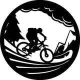 bike mountain DXF of PLASMA ROUTER LASER  Cut -CNC Vector SVG-DXF-CDR-AI-JPEG
