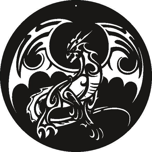 DRAGON DXF of PLASMA ROUTER LASER  Cut -CNC Vector SVG-DXF-CDR-AI-JPEG