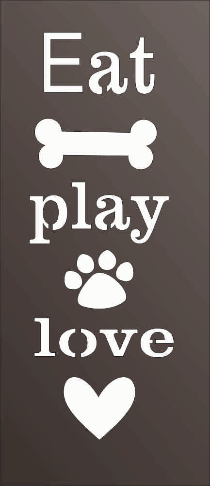 EAT PLAY LOVE DXF of PLASMA ROUTER LASER  Cut -CNC Vector DXF-CDR-AI-JPEG