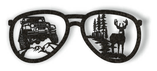 glasses jeep deer DXF of PLASMA ROUTER LASER  Cut -CNC Vector DXF-CDR-AI-JPEG
