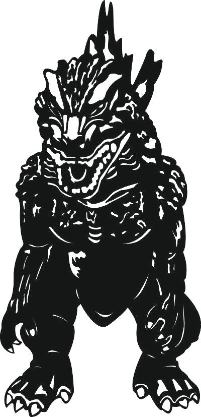 godzilla SVG-DXF of PLASMA ROUTER LASER  Cut -CNC Vector DXF-CDR-AI-JPEG