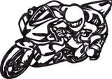 MOTORCYCLE RIDER DXF of PLASMA ROUTER LASER  Cut -CNC Vector DXF-CDR-AI-JPEG