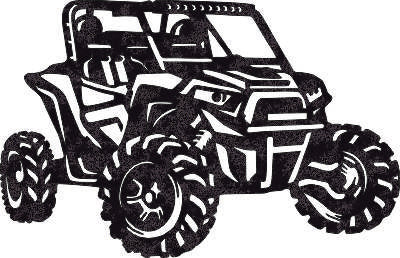 Car-ATV DXF of PLASMA ROUTER LASER  Cut -CNC Vector DXF-CDR-AI-JPEG