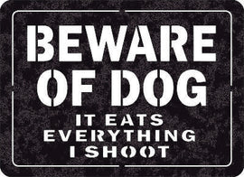 Beware-Of-Dog-Sign DXF of PLASMA ROUTER LASER  Cut -CNC Vector DXF-CDR-AI-JPEG
