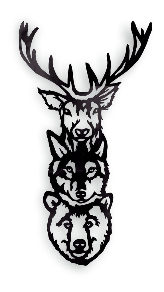 FOREST  ANIMALS DXF of PLASMA ROUTER LASER  Cut -CNC Vector DXF-CDR-AI-JPEG