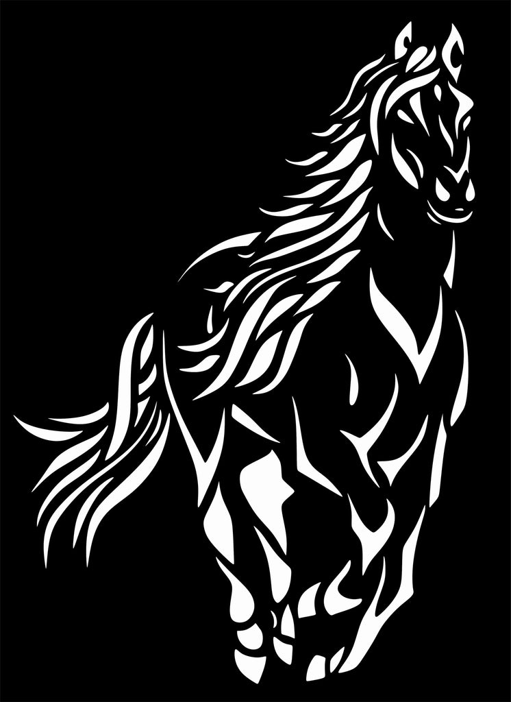 HORSE DXF of PLASMA ROUTER LASER  Cut -CNC Vector DXF-CDR-AI-JPEG