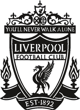 LOGO LIVERPOOL DXF of PLASMA ROUTER LASER  Cut -CNC Vector DXF-CDR-AI-JPEG
