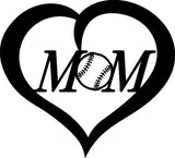 love mom base ball DXF of PLASMA ROUTER LASER  Cut -CNC Vector SVG-DXF-CDR-AI-JPEG