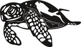 TURTLE MARINE DXF of PLASMA ROUTER LASER  Cut -CNC Vector SVG-DXF-CDR-AI-JPEG