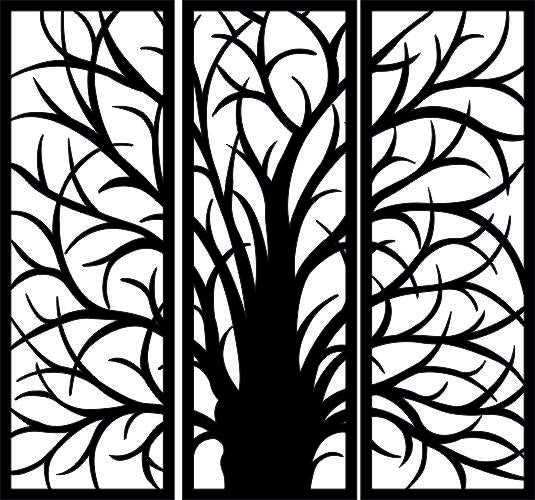 TREE DXF of PLASMA ROUTER LASER  Cut -CNC Vector SVG-DXF-CDR-AI-JPEG
