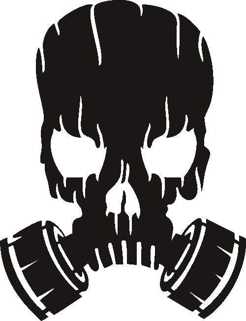 toxic skull DXF of PLASMA ROUTER LASER  Cut -CNC Vector SVG-DXF-CDR-AI-JPEG