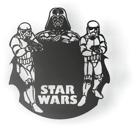 CLOCK  CNC ART AI CDR PLASMA ROUTER LASER CUTTING STAR WARS