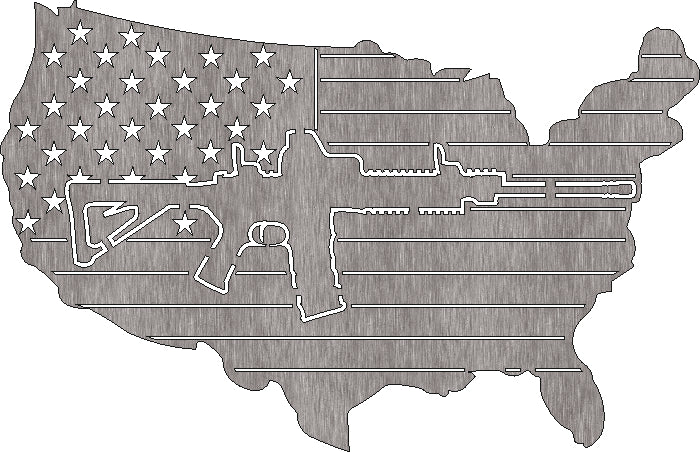 USA MAP ARMY SVG DXF of PLASMA ROUTER LASER  Cut -CNC Vector DXF-CDR-AI-JPEG