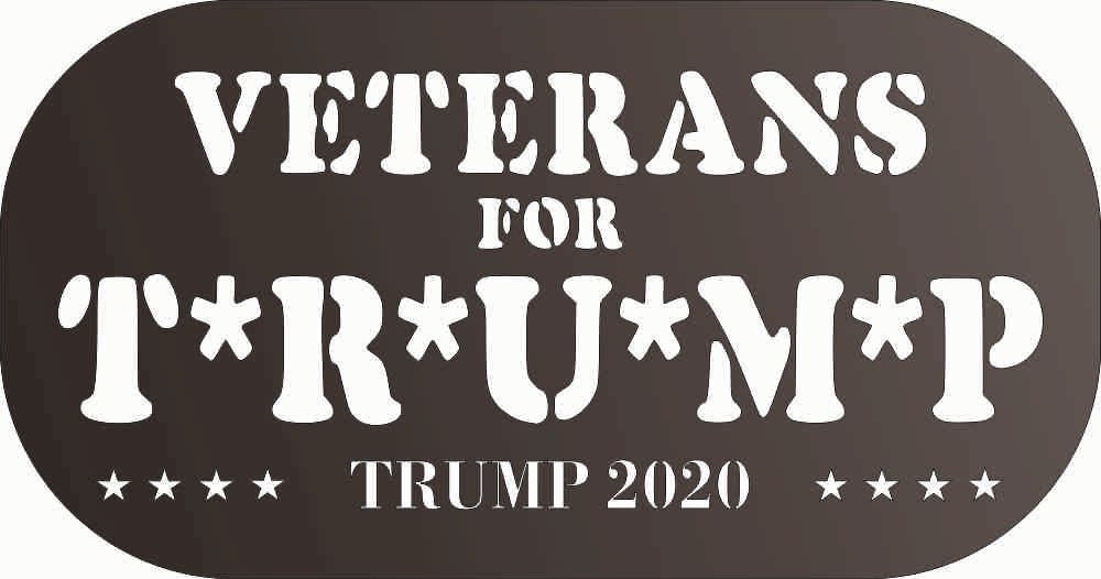 veterans for trump DXF of PLASMA ROUTER LASER  Cut -CNC Vector DXF-CDR-AI-JPEG